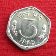 India 3 Paise 1965 (b) KM# 14.1 Inde Indie - India