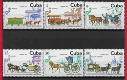 CUBA MNH - 1981 Antichi Veicoli A Cavalli - Vari ¢ - Michel CU 2569 - 2574 - Nuovi