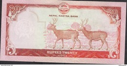 NEPAL P78 20 RUPEES ND NEW TYPE 2016 2 DEERS ON BACK Signature 17  UNC. - Nepal