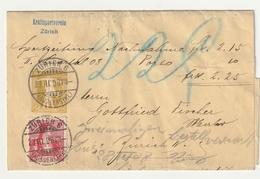 LETTRE ZÜRICH 6 1908 - Suisse