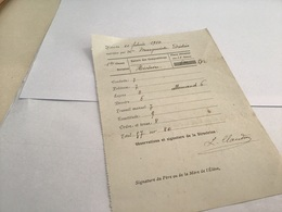 Note Du 21 Février 1914 école De Remiremont Lecon Allemand - Diplômes & Bulletins Scolaires