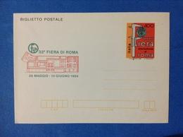 1984 ITALIA BIGLIETTO POSTALE NUOVO MNH** - FIERA DI ROMA - Interi Postali