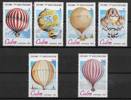 CUBA MNH - 1983 The 200th Anniversary Of Manned Flight - Balloons - Vari ¢ - Michel CU 2725 - 2730 - Nuevos