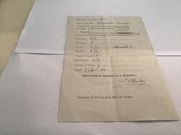 Note Du 1914 école De Remiremont Relevé De Notes Nature Des Compositions Place Obtenue Par L'élève Conduite Politesse Le - Diplômes & Bulletins Scolaires