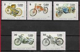 CUBA MNH - 1985 100th Anniversary Of The Motorcycle - Vari ¢ - Michel CU 2954 - 2958 - Nuovi