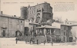 Drome : SUZE-la-ROUSSE : Le Chateau - La Place ( Animée ) - Francia