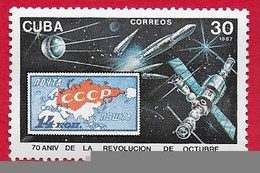 CUBA MNH - 1987 70th Anniversary Of The Russian Revolution - 30 ¢ - Michel CU 3141 - Cuba