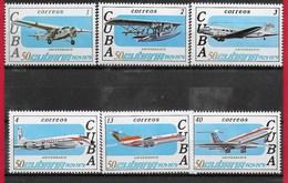 CUBA MNH - 1979 50th Anniversary Of The Cuban Airlines - Vari ¢ - Michel CU 2430 - 2435 - Cuba