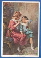 Malerei; Jodolfi Adolf; Eine Bittere Pille; 1919 Stempel Radna Rumänien - Adolf 'Jodolfi'