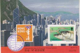 Falkland Islands 1997 Hong Kong M/s ** Mnh (41776) - Falklandeilanden