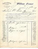 Facture 1899 / Allemagne  PFORZHEIM / William POSNER / Fabrique De Bijouterie - Allemagne