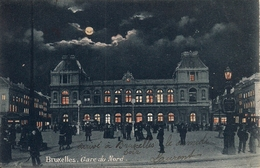 BRUSSEL BRUXELLES GARE DU NORD NACHT/NUIT - Spoorwegen, Stations