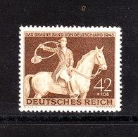 "Germania Reich - 1943. Corsa Ippica "" Ruban Brun "". Horse Racing. MNH, Fresh - Ippica"