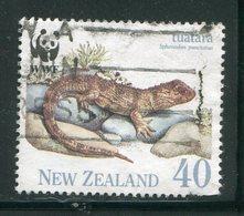 NOUVELLE-ZELANDE- Y&T N°1104- Oblitéré (lézards) - Reptiles & Amphibians
