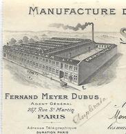 Facture 1920 / Angleterre / NORTHAMPTON / SIMON COLLIER / Manufacture De Chaussures / MEYER DUBUS PARIS - Royaume-Uni