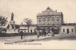BRUSSEL BRUXELLES LA GARE DU LUXEMBOURG - Spoorwegen, Stations