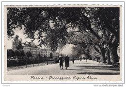 MERANO Bolzano 1937 Passeggiata Regina Elena Annullo A Targhetta - Merano