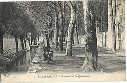 69 VILLEFRANCHE SUR SAONE Promenade De La Quarantaine 1914 TBE - Villefranche-sur-Saone