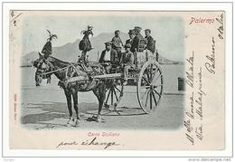 Palermo Carro Siciliano Viaggiata 1901 - Palermo