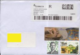 Spain 2017. Registered Letter. 3 Stamps: Alfarero - Ceramica, Antequera And Standart. - Espagne