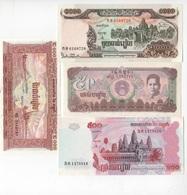 B34 - CAMBODGE Lot De 4 Billets 1er Choix - Cambodia