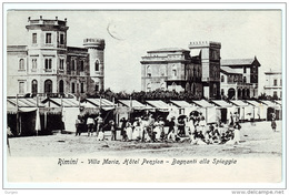 RIMINI VILLA MARIA HOTEL BAGNANTI ANIMATISSIMA 1909 - Rimini