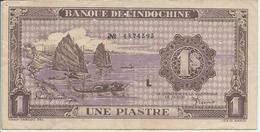 INDOCHINE   1  Piastre   Nd(1942)  -- L -- - Indochine