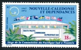 NOUV.-CALEDONIE 1972 - Yv. PA 128 *   Cote= 3,60 EUR - Commission Du Pacifique-Sud  ..Réf.NCE24338 - Poste Aérienne