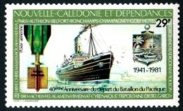 NOUV.-CALEDONIE 1981 - Yv. PA 214 NEUF   Cote= 4,00 EUR - Départ Du Bataillon Du Pacifique  ..Réf.NCE24355 - Poste Aérienne