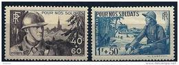 """FR YT 451 & 452 """" Pour Nos Soldats """" 1940 Neuf** - Unused Stamps"""