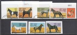 Vietnam 1989 - Horses, Imperforated, Canceled - Viêt-Nam