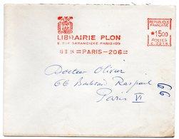 EDITION + LIBRAIRIE = PARIS 1956 = EMA  = ' LIBRAIRIE PLON ' - Marcophilie (Lettres)