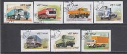 Vietnam 1990 - Trucks, Imperforated, Canceled - Viêt-Nam