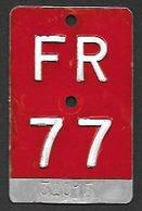 Velonummer Fribourg FR 77 - Number Plates