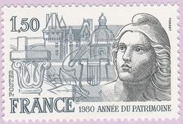 N° Yvert & Tellier 2092 - Timbre De France (Année 1980) - MNH - Année Du Patrimoine - Francia