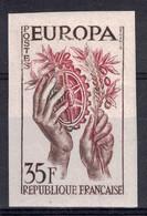 """LOT TIMBRE FRANCE ESSAI DE COULEURS NON DENTELÉ """"EUROPA"""" N°1123 NEUF ** LUXE (1957) - Proofs"""