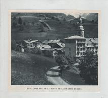 La Clusaz Vue De La Route De Saint Jean De Sixt - Vecchi Documenti