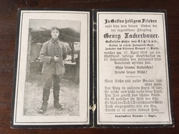 Sterbebild Wk1 Ww1 Bidprentje Avis Décès Deathcard FLANDERN LANGEMARK 17. April 1918 Aus Eschlkam - 1914-18