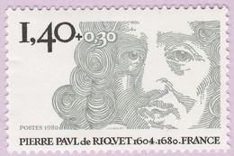 N° Yvert & Tellier 2100 - Timbre De France (Année 1980) - MNH - Pierre Paul De Riquet - Francia