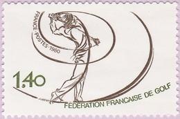 N° Yvert & Tellier 2105 - Timbre De France (Année 1980) - MNH - Fédération Française De Golf - Francia