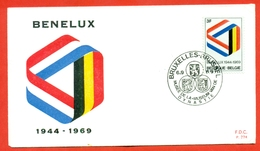 Belgium 1969.Benelux.FDC. - Raubkatzen