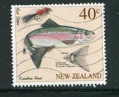 NOUVELLE-ZELANDE- Y&T N°1533- Oblitéré (poissons) - Poissons