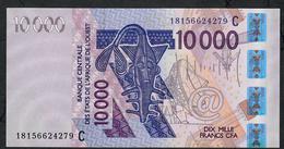 W.A.S. LETTER C P318Cr 10000 FRANCS (20)18 2018  UNC. - États D'Afrique De L'Ouest