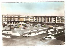 CPSM 80 AMIENS La Gare Du Nord - Voitures Années 60 - Amiens