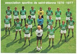 POSTER ASSOCIATION SPORTIVE DE ST ETIENNE - ASSE - SAISON 1976 1977 PUBLICITE MANUFRANCE - Habillement, Souvenirs & Autres