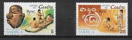CUBA MNH - 1989 America, Pre-Columbian Cultures - 5 + 20 ¢ - Michel CU 3312 - 3313 - Nuovi