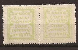 INDE - SIRMOOR 1879/1880 - N° 1a Paire - NEUF XX MNH - Sirmur