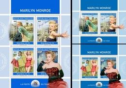 Togo 2018, Cinema, M. Monroe II, 4val In BF+2BF - Togo (1960-...)