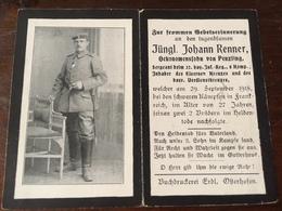 Sterbebild Wk1 Ww1 Bidprentje Avis Décès Deathcard IR32 ST. ÉTIENNE À ARNES Block 5 Grab 387 Aus Penzling - 1914-18