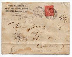 1906-Lettre De CHARENTON MAGASINS GENERAUX Pour PUY NOTRE DAME-49--type Semeuse--LOUIS DESSEREY - Storia Postale